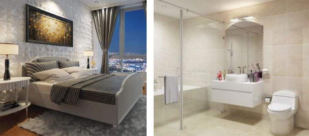 Phòng Master có toilet bên trong của căn hộ Vinhomes Central Park